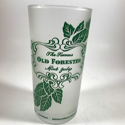 The Famous Old Forester Mint Julip Frosted Glass - Kentucky Derby