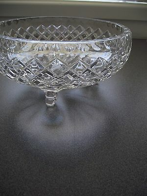 Vintage Diamond Cut Crystal Fruit/Salad Bowl  ~ STUNNING ~ EXCELLENT CONDITION