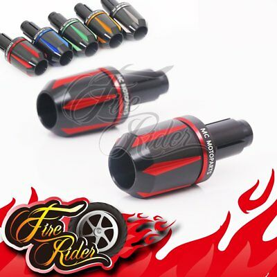 CNC All Red Edge Black Bar Ends For Universal Motorcycles