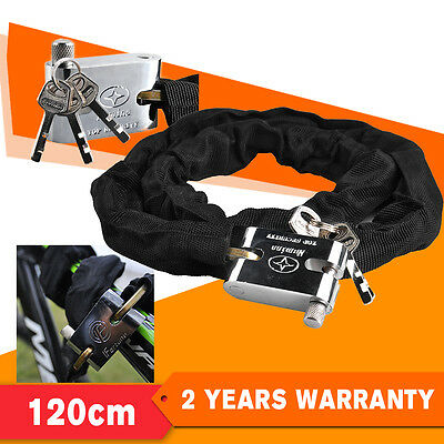 120cm Bike Chain Lock Motorbike Motorbicycle Lock Cycle Heavy Duty Anti -theft