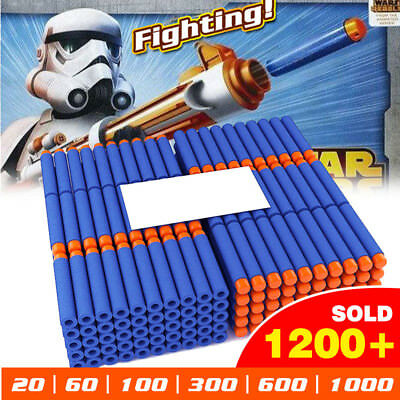 20-2000PCS Toy Gun Soft Refill Bullets Darts Blasters For NERF Elite N-Strike