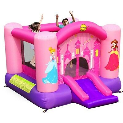 Princess Jumping Castle Slide & Basket Ball Hoop ..Outdoor Fun