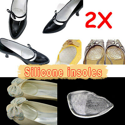 2PCS Silicone Gel Cushion Insoles Protect Comfy Feet Palm Care Shoe Pads Insert