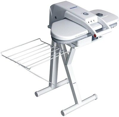 Steam Press Stand 24 in Free Standing Iron Clothes Garment Folding White Rack
