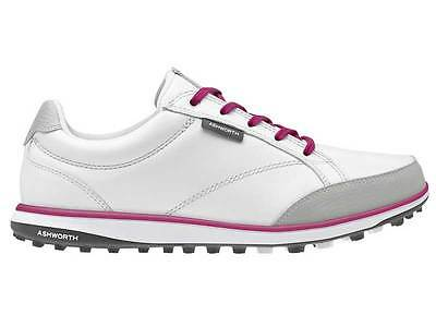 Ashworth Cardiff ADC Ladies Golf Shoes - White/Pink