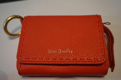 VERA BRADLEY RFID Mallory Card Case - Canyon Sunset Leather NWT w1