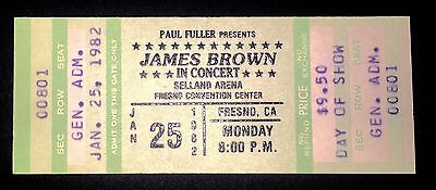 JAMES BROWN Concert Ticket Vintage Unused 1982 Fresno Selland