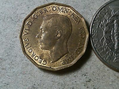 Great Britain 3 pence threepence 1942