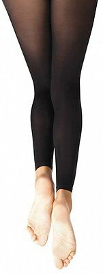 NEW CAPEZIO HOLD N STRETCH Footless tights style #140 Black size S