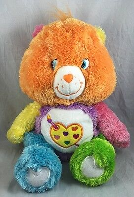 Work of Heart Bear Floppy Care Bears Plush Toy Rainbow Orange Artist Art 2005 13