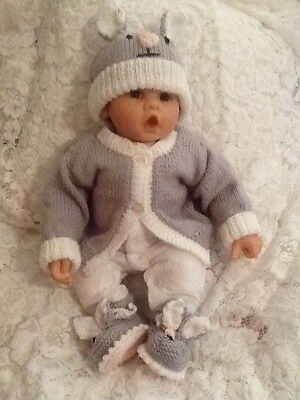 Hand Knitted Baby Mouse Set 3 Pieces Birth To 3 Months