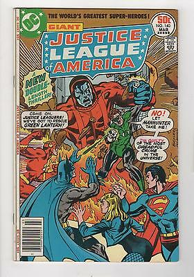 JUSTICE LEAGUE of AMERICA no. 140 1ST APPEARANCE MANHUNTERS VERY FINE+ 8.5