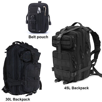 30L 45L Military Tactical Army Rucksacks Molle Backpack Camping Hiking Belt Bag