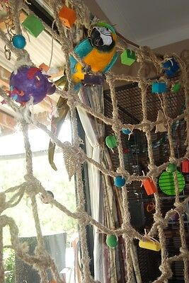 BIRDTALK BIRD TOYS PARROT ABACA JUNGLE PLAYGROUND free foot toy orders over $25