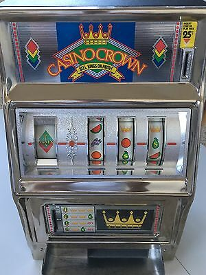 CASINO CROWN SLOT MACHINE BANK - Very Nice and Clean