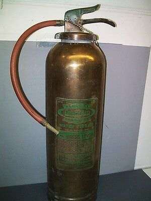 Vintage General Quick Aid Fire Guard Fire Extinguisher Solid Brass 2 1/2 Gallon