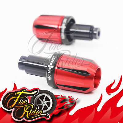 CNC Deep Edge Red Black Bar Ends For Universal Motorcycles