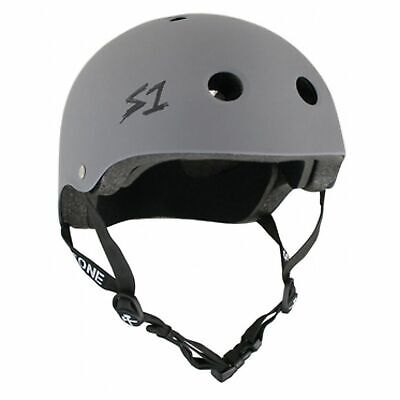 S1 S-One Lifer Helmet Grey Matte Skate Skateboard Helmet Aust Bicycle Certified