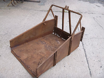 David Brown Cropmaster Link Box, very rare early implement, has its badge