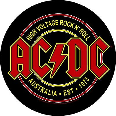 AC/DC high voltage circular Back Patch XLG free worldwide shipping