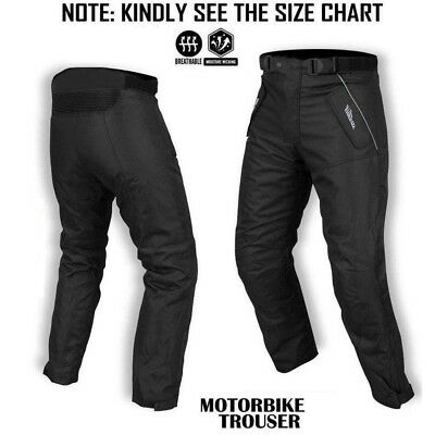 Motorbike Waterproof Cordura Textile Motorcycle Trouser Pants Armours Black -299