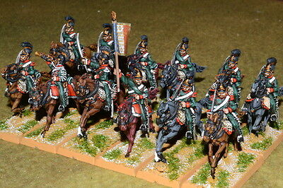 1/56 28mm DPS painted Napoleonic Wars French Mounted Chasseurs Regiment RC335