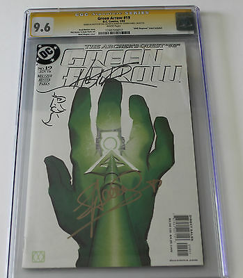 CGC Graded 9.6 Green  Arrow #19, Signature Stephen Amell, Sketch by Phil Hester