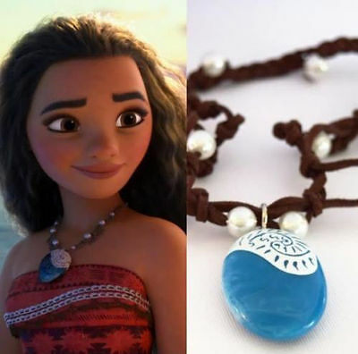 Moana Princess Vaiana Necklace Principessa Cosplay Props Costume Pendant Jewelry