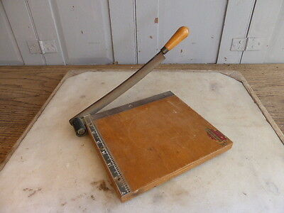 Small vintage wooden guillotine cutter The Adhesive Dry Mounting Company Ltd
