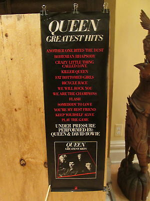 QUEEN - Greatest Hits - 12 x 36 inches   Rare promo POSTER