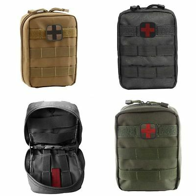 AU Outdoor 600D Tactical Military Molle Belt Medical Utility First Aid Pouch Bag