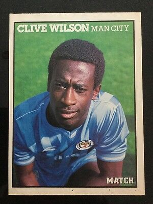 A4 Football picture/poster CLIVE WILSON Man City (1979-87)