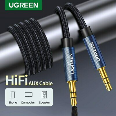 UGREEN Aux Cable jack 3.5mm Audio Cable Gold Plated For Car iPhone Samsung Tab