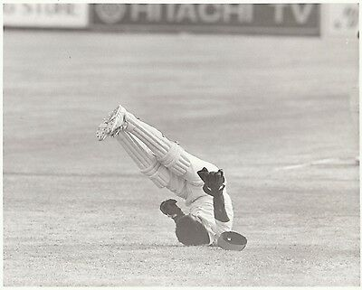 ENGLAND WEST INDIES Antigua 1981 black & white press photograph... David Murray