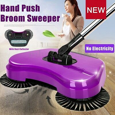 Trendy Automatic Hand Push Sweeper Magic Spinning Broom Household Cleaning New