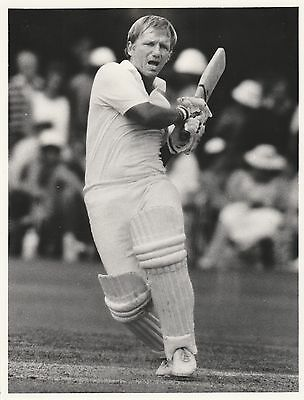 CLIVE RADLEY (Middlesex & England) black and white press photograph... Ashes