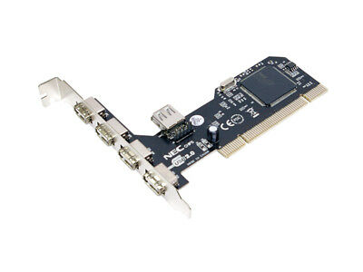 LogiLink PC0041 PCI Schnittstellenkarte USB 2.0 5x Plug-and-Play bis 480 Mbit/s