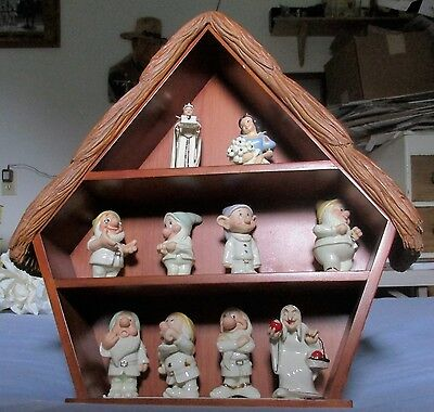 11 Piece Salt & Pepper Display With Shed From Lenox Disney Handcrafted In China