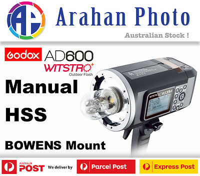 Godox Witstro AD600BM Manual HSS 1/8000s Battery Flash