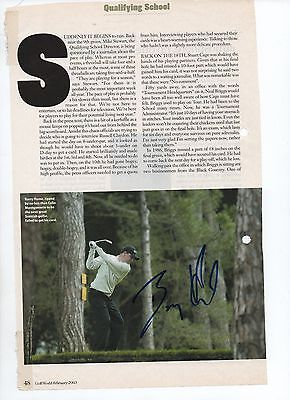 Phil Golding & Barry Hume - autographed magazine photo