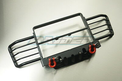 1/10 scale RC4WD D110 D90 Gelande Land Rover Metal Front Bumper w/Winch Shackles