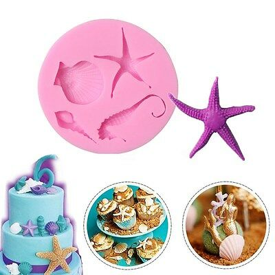 Shell Conch Star Silicone Mold Cake Decorating Chocolate Baking Icing Sugar Mold