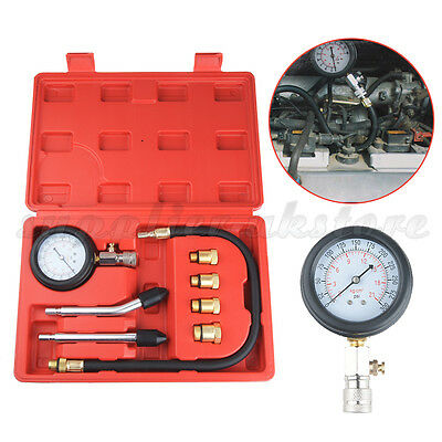 9 in 1 Petrol Engine Compression Tester Kit Set For Automotives and Motorcycles