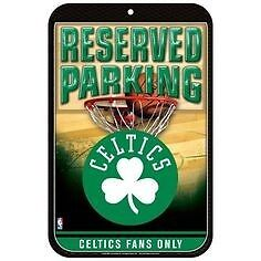 "Plaque Nba "" Reserved Parking "" Boston Celtics"