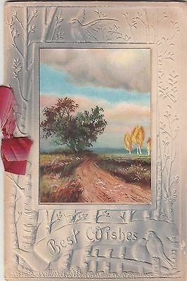 Best Wishes Christmas The Holly Berry Verse Victorian Folding Card c 1880s