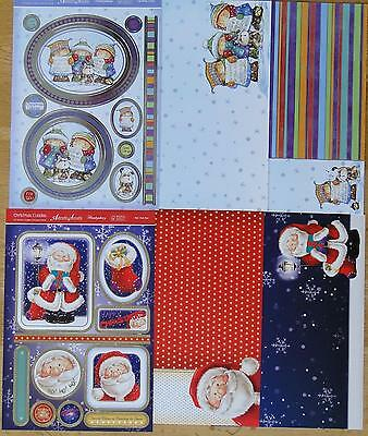 2 Sets Hunkydory Die-Cut & Foiled Toppers And Matching A4  Cardstock  G40