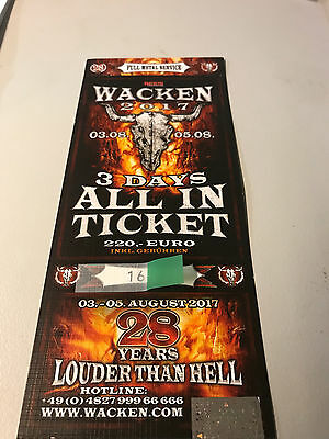 W:O:A WACKEN | 3-Days-All-In Ticket | 03.08.-05.08.2017 | louder than hell |