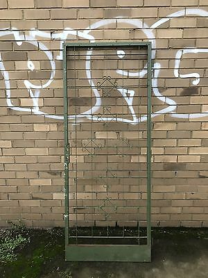 Old Retro FLY SCREEN Flywire DOOR Decorative Wrought Iron face House
