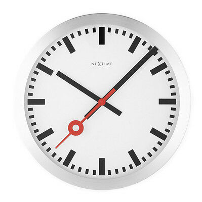 NeXtime Station Stripe Silent Wall Clock