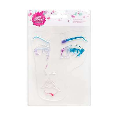 Jane Davenport Mixed Media Acrylic Stamps û Woman's Face Stamp û Brand New